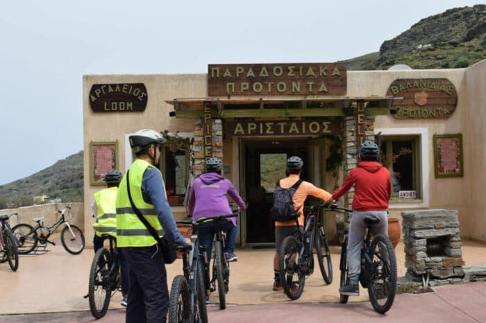 Tour the Milopotamos Village on Electric Bicycles at Aristaios